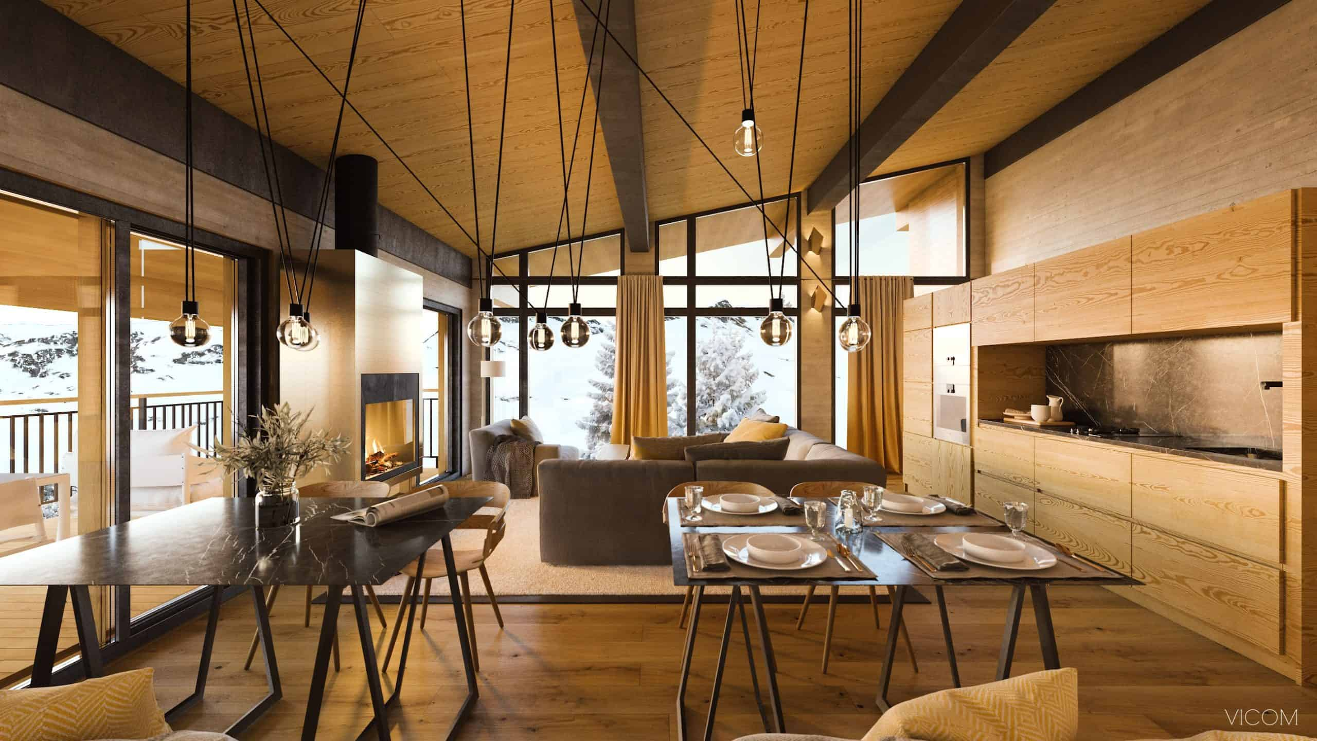 les cristaux, french alps, france, dining area