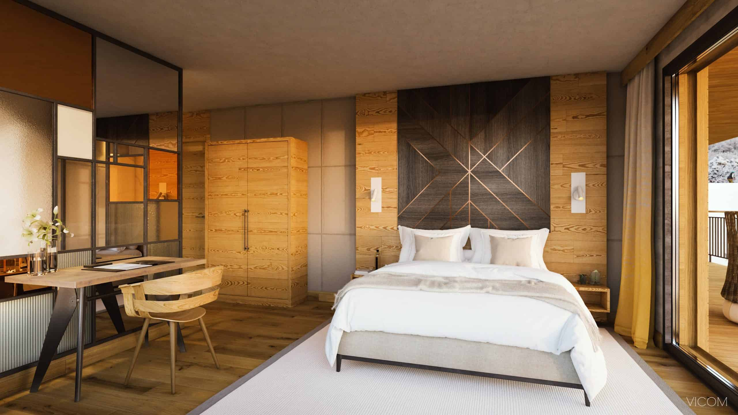 les cristaux, french alps, france, bedroom